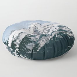 Mount Hood X Floor Pillow