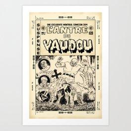 El Spectro - L'Antre du Vaudou Art Print