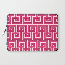 Greek Key - Pink Laptop Sleeve