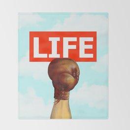 kick life back Throw Blanket