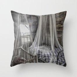 Night Protection Throw Pillow