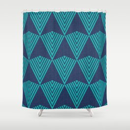 Arrows >>Navy+Turquoise Shower Curtain
