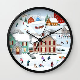Once Upon a Winter Wall Clock