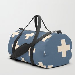 Swiss Cross Blue Duffle Bag