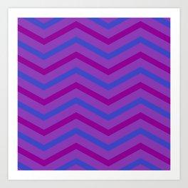 Grape Stripe Chevrons Art Print