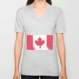 Canada flag Unisex V-Neck