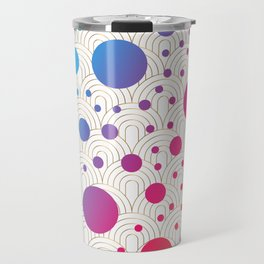 Abstract colorful background with cirlces Travel Mug