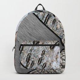 Birch Bark and Digital Brushed Silver Metal Backpack