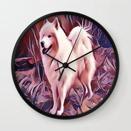 The Siberian Samoyed Wall Clock