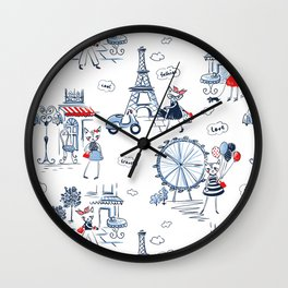 Fashion cats pattern Wall Clock