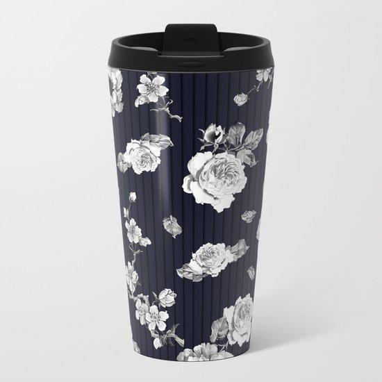 Flowers With Effect Metal Travel Mug