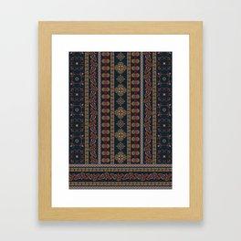 Henna pattern print - Betty Framed Art Print