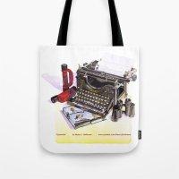 typewriter Tote Bags featuring Typewriter by Nancy L. Hoffmann
