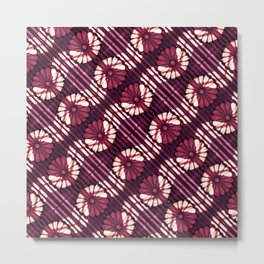 Decorative Stylized Floral Pattern Metal Print