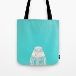 Aqua Penguin Tote Bag