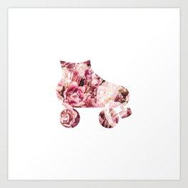 Roller Derby & Roses Art Print