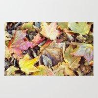 blanket Area & Throw Rugs featuring autumn blanket by Bonnie Jakobsen-Martin
