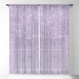 Modern elegant lavender lilac glitter marble Sheer Curtain