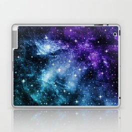 Purple Teal Galaxy Nebula Dream #1 #decor #art #society6 Laptop & iPad Skin