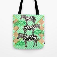 zebras in the jungle Tote Bag