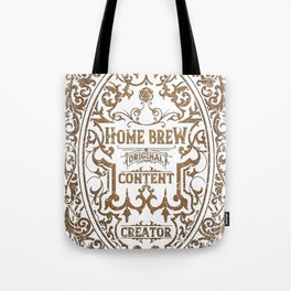 D20 RPG Home Brew Distressed Whiskey Label Tote Bag