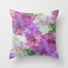 Sweet Peas Floral Abstract Throw Pillow