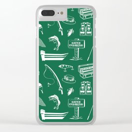 Gone Fishing // Jewel Green Clear iPhone Case