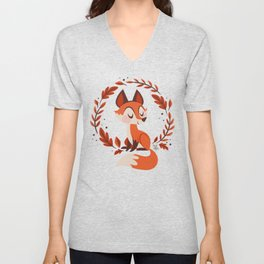 Cute Foxes Unisex V-Neck