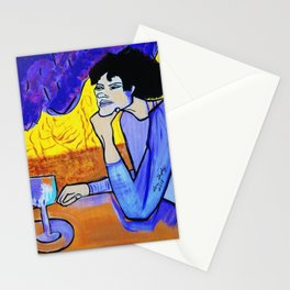 OLGA  IS WAITING Stationery Cards