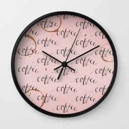 Wake up Thirsty Wall Clock