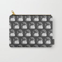 Minifigure Pattern - Dark Grey Carry-All Pouch