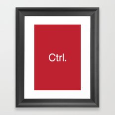Ctrl. computers Framed Art Print