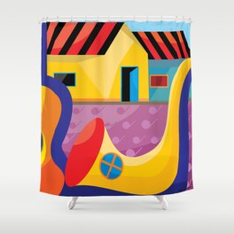 Music-and- field Shower Curtain