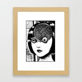 Spiral ghost Framed Art Print