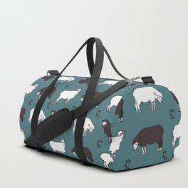Sheep spread green Duffle Bag
