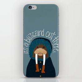 Walrus by Darah King iPhone Skin
