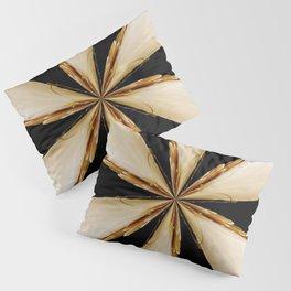 Black, White and Gold Star Pillow Sham
