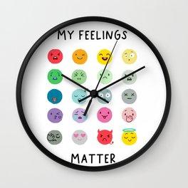 My Feelings Matter - Learning Prints Wall Clock
