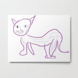 El Gato Morado Metal Print
