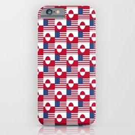 Mix of flag : Usa and greenland iPhone Case
