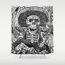 Skulls from the heap Shower Curtain