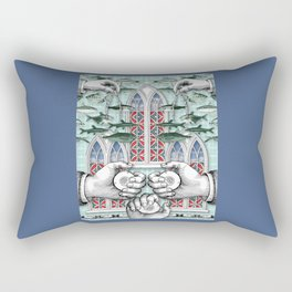 Three of Pentacles Rectangular Pillow
