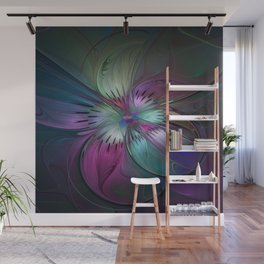 Abstract Colorful Fractal Art Wall Mural