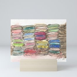 A Feast of Macarons Mini Art Print