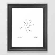 [baby boy] - nadya 3 yr Framed Art Print