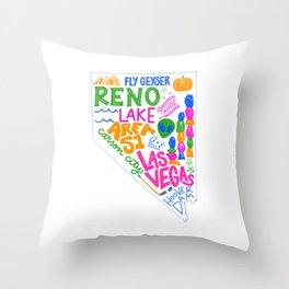 50 States Series: Nevada Throw Pillow