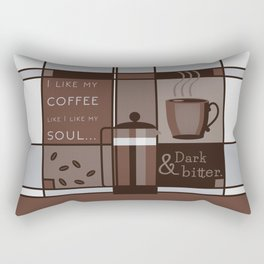 Dark and Bitter Rectangular Pillow