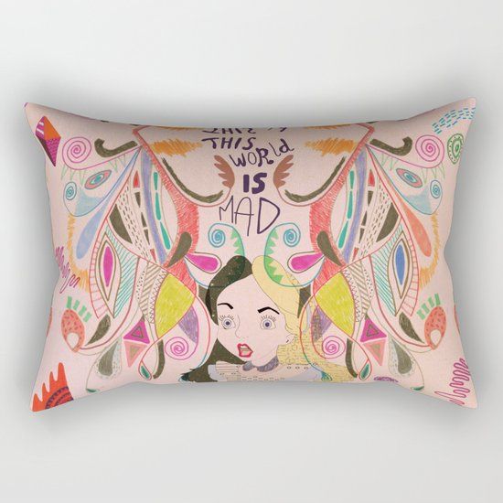 Alice In Wonderland  Rectangular Pillow