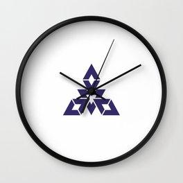 Flag of Fukuoka Wall Clock