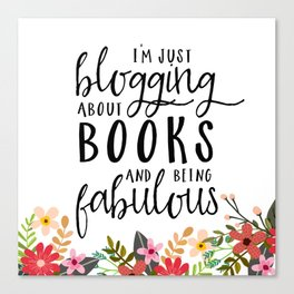 Blogging About Books Canvas Print